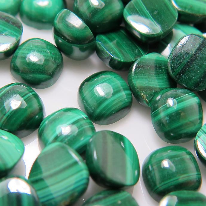 19/'/' 2 Rows Natural 6mm Green Malachite Necklace CZ Pendant